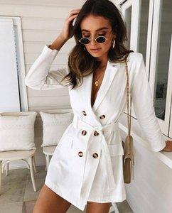 Stylish Women Trench Windbreaker Belt Lapel Long Trench Parkas Tops Outwear White Winter Coats Fashion