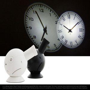 Hot sale circular projection modern wall clock Rome Arabia digital needle with backlight luminova mechanical plastic