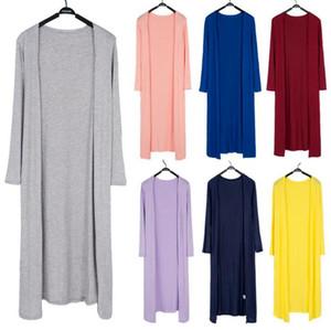 Hırka Şeker Renk Dış Giyim Kadın Modal ceketler Vintage Coat Modal Şal Hava Durumu Gevşek Triko Casual Bluz Kazak OOA3924 Tops