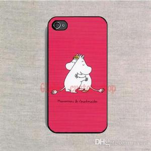 Livraison Gratuite Téléphone Cas Moomin Vallées Couverture de Bande Dessinée En Plastique Dur Noir pour Samsung Galaxy S4 S5 S6 S7 Bord S8 Plus Note 5 cas