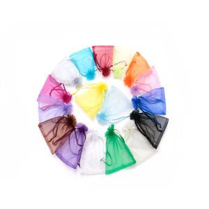 1000pcs / lot 9x12cm cordón bolsas de organza grano de almacenamiento de exhibición de la pulsera de la joyería de empaquetado Bolsa porciones de la joyería al por mayor