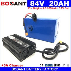 BOOANT 84V 20AH para Bafang 2000W Motor E-bike bateria de lítio celular pacote 18650 84V bicicleta elétrica da bateria + 5A Carregador 30A BMS