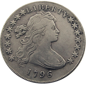 Vereinigten Staaten von Amerika 1796 Liberty Messing Silber überzogene Replik Münzen Brief Rand Fabrik Preis