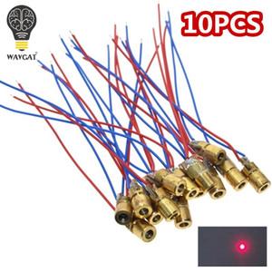 WAVGAT 10 PCS 5 V 650nm 5 mW Ajustável Laser Dot Diodo Módulo de Visão Red Cabeça de Cobre Mini Ponteiro Laser