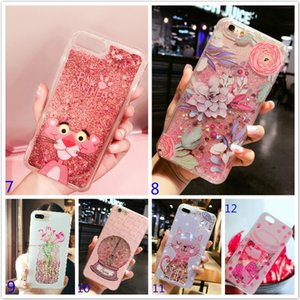 Quicksand Liquid Bling Katze Mond Flamingo Flitter Glitter Herz Star Hard Phone Cases Abdeckung Für iPhone X 6 6 s 7 8 Plus