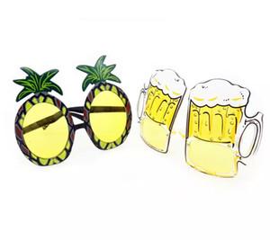 Hawaiian Beach Ananas Sonnenbrillen gelbe Biergläser HEN PARTY FANCY DRESS Goggles lustige Halloween Geschenk Mode gefallen