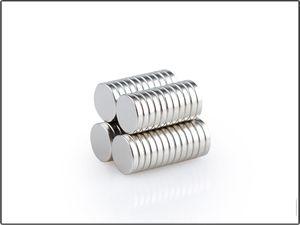 100 Pçs / lote NdFeB Ímãs NdFeB Multipurpose Forte Rodada Dia12x1.5mm N35 Terra Rara Neodímio Artesanato Permanente DIY Ímã Frete grátis