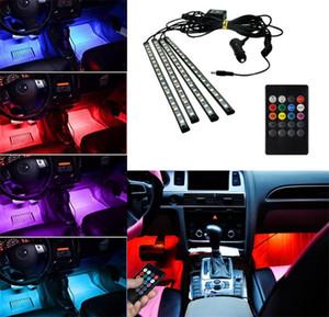Авто Interni RGB цвет 9 светодиодные полосы света комплект беспроводной музыкальный контроль 7 цвет