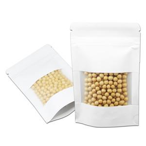 Le papier kraft supporte les sachets à fermeture à glissière pour sac et sachets de biscuits Sachets à l'épreuve de la graisse