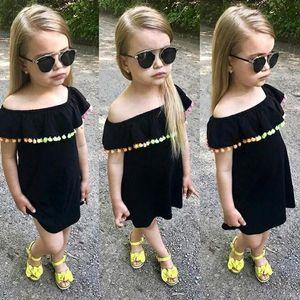 DHL Enviar 2018 Summer New Baby Girls Ropa Rainbow Ball borla Mini Pure shoulde Baby Princess Dress Lindo Algodón Childern Niños Ropa