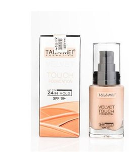 Make Up TAILAIMEI Touch Foundation up to 24 hour hold VELVET TOUCH FOUNDATION 3colors BEIGE FAIR NATURE Makeup face liquid foundation