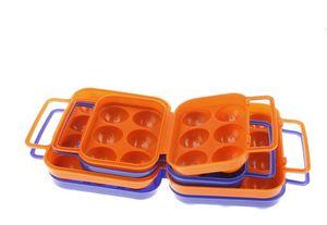 Eierbehälter für Camping- und Reiseeier Dispenser Holder Tragbarer stapelbarer Eierhalter aus Kunststoff für Camping Pinic