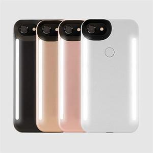 아이폰 (11) 프로 맥스 X XS 6 7 8 플러스 LED 라이트 셀카 전화 케이스 라이트 플래시 발광 전화 뒤 표지 케이스