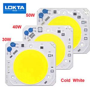 5PCS / LOT Hight Puissance LED COB CHIP 30W 40W 50W AC220V ışık boncuk diy projektör spot akıllı ic Sürücü