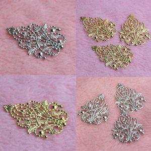 20 قطع الذهب / الفضة يترك الصغر الأغطية موصلات المعادن الحرف موصل لصنع المجوهرات diy الاكسسوارات سحر قلادة