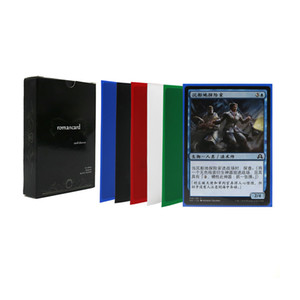 50 pcs lot 66*91mm Card Sleeves with color box Cards Protector for mtg pocket poker board game monster cards sheets