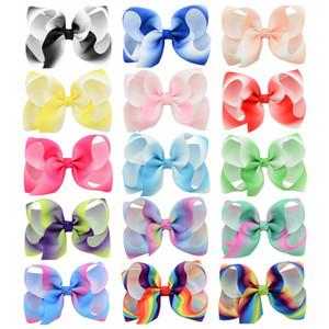 Bambino Big Bow Capelli Clips Girls Grande Anatra DuckBill Clip Barrette nastro Bowknot Hairpin Boutique Bows Accessori per capelli per Toddler KFJ185
