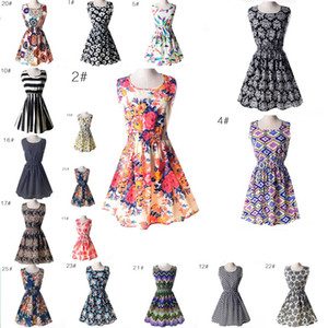 Мода сексуальные повседневные платья женщины лето Dress женщины рукавов пляж Dress короткие шифон мини цветок Dress BOHO Женская одежда Оптовая