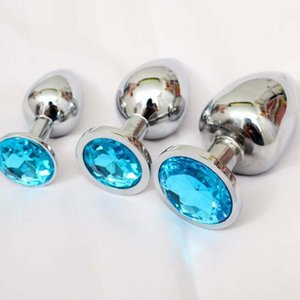 Anal Pequeno Médio Large Metal Inoxidável J1546 Plug Anal 3 Pçs / Set Aço Butt Sexo Produtos Plug Gay Dildo Beads Brinquedos TFXDQ