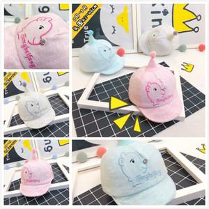 2018 New Creativo Colorful Unicorn Mais Baby Hat in cotone Cartoon Cute Animal Cap cappello di Natale a maglia manica Cap Cap 4 colori molto