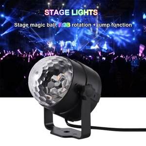 3W Mini RGB Crystal Magic Ball Sound Activated Disco Ball Stage Laser Lamp Lumiere Christmas Laser Projector Dj Club Party Light Show