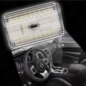Universal 12V Blanc LED lampe source automatique led lumière voiture Dôme Lumière 36 SMD LED Toit Plafond Rectangulaire Intérieur Lampe Interrupteur On / Off Switch