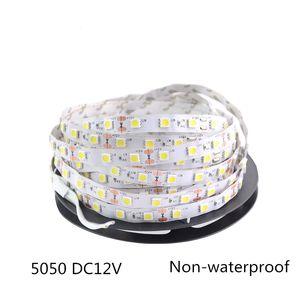 새로운 LED 스트립 빛 5050 DC12V 5M 300LED 유연한 RGB 바 라이트 슈퍼 밝기 비 방수 실내 장식