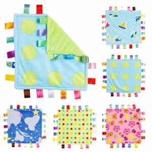 30 * 30см детское успокоение полотенце младенца утешительный тагуи одеяло супер мягкие квадратные плюшевые игрушки ребенка успокоиться BB водяной ванна для душа полотенце