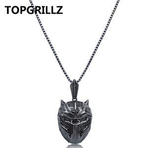 TOPGRILLZ хип-хоп Маскарад Маска обледенелый кубический Циркон ожерелье мужчины ювелирные изделия подарки с 60 см коробка цепи