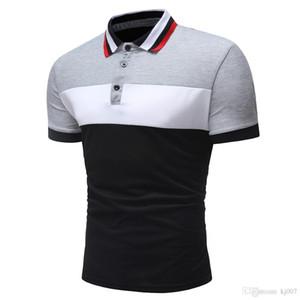 Fashion Shirts Men Polos New Design Summer Mens Shirt Striped Cotton New Tees Polo Shirts Short Sleeve T Shirts Man Slim Casual Shirt