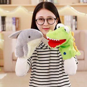 1 stück neue cartoon krokodil / shark handpuppen für kinder plüsch weiche tier puppe spielzeug kinder baby geburtstagsgeschenk geschichte lernen