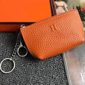 Мужская Тонкий Zipper монет кошелек кожа Мода дизайн Мужчины Женщины Письмо брелок сумки держатель Дамский Аксессуары для монет Кошельки с коробкой