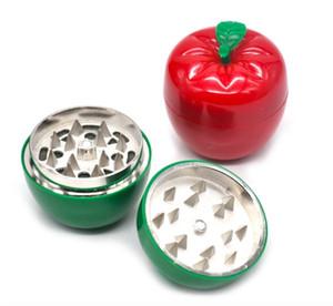 Venta al por mayor barato lindo manzana manzana amoladora verde rojo hierba amoladora para fumar hierba seca barato metal 53 mm amoladora de tabaco shippping libre