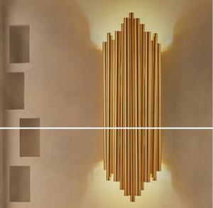 Americano personalidade pós-moderna minimalista lâmpada do hotel criativo luzes de parede decorativo sala de fundo parede cabeça órgão lâmpada de parede LLFA