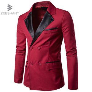 ZEESHANT Hommes Blazer New Fashion Marque de haute qualité Coton Slim Fit Hommes Costume Terno Masculino Blazers Veste Tailleur