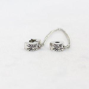 Новый посеребренные цепи безопасности Шарм шарик цветок Снежинка пробка подвески Fit браслеты браслеты DIY женщин ювелирные изделия