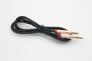 Cable de cable de audio AUX macho enchapado en oro enchufado en TPE enchufado en oro de 1m / 3ft 3.5mm por DHL 100+