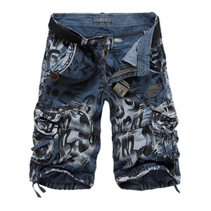 2018 Brand Design Men Summer Camouflage  Cargo Shorts Bermuda Jeans Male Masculina Fashion Casual Baggy Denim Shorts
