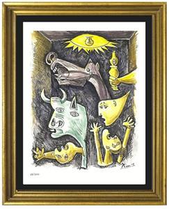 Célèbre Pablo Picasso - Guernica Haute Qualité Peint À La Main HD Imprimer Abstract Art Peinture À L'huile Maison Déco Mur Art Sur Toile Multi tailles g172