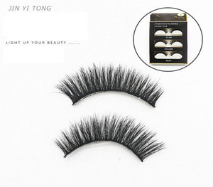 3D Eyelash Multi Layer Crossed Cotton Thread Terrier Pure Manual False Eyelashes Naturally Slender Students' Naked Eyelashes