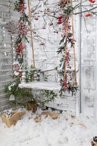 Großhandel weiße Weihnachten Hintergrund Foto Kulissen Fotografie Hintergrund Winter Scence Schnee Baby Dusche Kinder Bilder Xt-6924