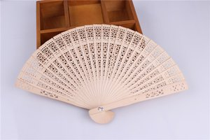 100pcs chinois aromatique ajouré sculpture sur bois ventilateur poche pliant à la main ventilateurs Elegent Home Decor Party Favors
