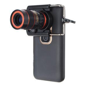 8X Zoom Оптический Телефон Объектив Телескопа Универсальный Для iPhone Для Samsung Мобильный Смарт-Объектив С Универсальным Зажимом Портативный Черный