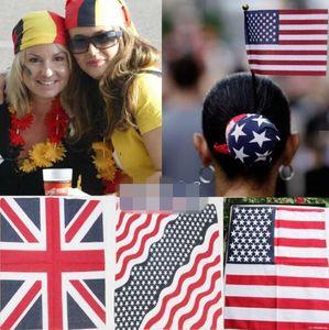 Weltmeisterschaft Nationalflagge Farbe Baumwolle Jamaican Hiphop Bandanas 55 * 55 cm Männlich Weiblich Kopftuch Große Mehrzweck Taschentuch