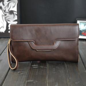 Crazy Horse Leather Crossbody Bag Slim Male Shoulder Bag Business Travel Mini Clutch Men Messenger Bags