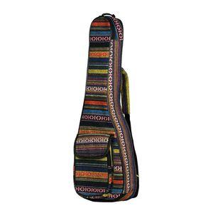 "23 ""Ukulele Tasche National Style Ukulele Rucksack Fall 6mm Cotton Padding Verstellbarer Schultergurt für Konzert Ukeleles"