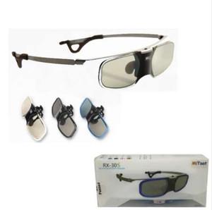 MITOOT Active Shutter 3D DLP occhiali gambe metalliche per proiettori BenQ Z4 / H1 / G1 / P1 LG, NUTS, Acer, Optoma DLP-LINK con clip Miopia