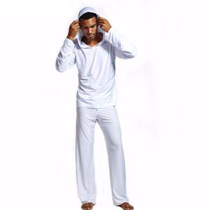 Men Pajama Sets Lounge Inicio Ropa de dormir para hombre a través de camisetas sin mangas Sudaderas para hombres y pantalones de salón para hombres con pijama