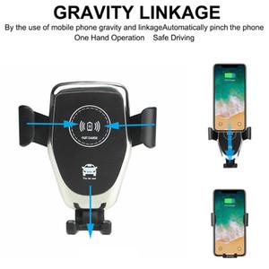 carregador sem fio do carro do carregador do carro do qi com o suporte do telefone do carro montar uma operação da mão para o iphone x 8 Samsung todos os telefones permitidos qi