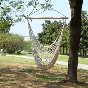 Balançoire extérieure de chaise à bascule pour les balançoires pliantes d'adulte adulte commode pour porter la corde suspendue réticulée de corde de coton 53ot X